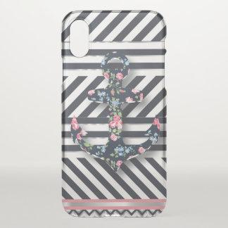 Hello Sailor! Retro Vintage Nautical Floral Anchor iPhone X Case