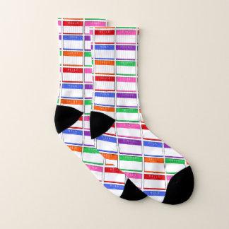 Hello Salut Ciao Hola Men Women Socks
