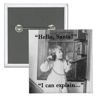 Hello Santa - Button 1