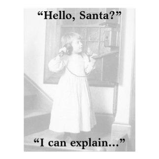 Hello, Santa? - Letterhead