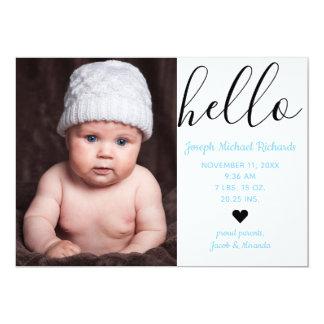 Hello Script Photo - Birth Announcement