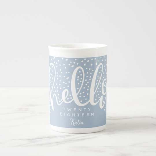 HELLO SNOW TEA CUP