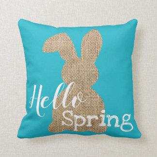 Hello Spring Bunny Pillow