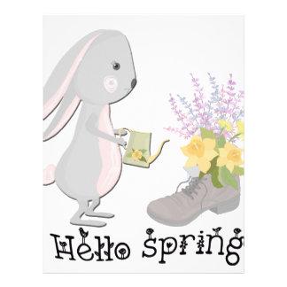 hello spring letterhead