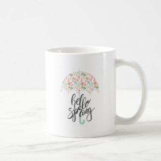 Hello Spring Umbrella Coffee Mug