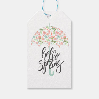 Hello Spring Umbrella Gift Tags