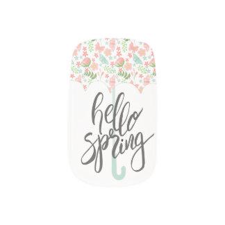 Hello Spring Umbrella Minx Nail Art