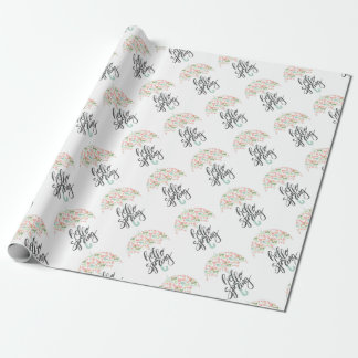 Hello Spring Umbrella Wrapping Paper