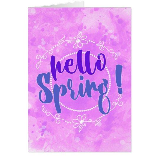Hello Spring Watercolor Note Card