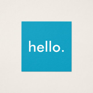 Hello Square Business Cards