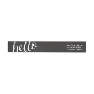 Hello Stationery Wraparound Return Address Label