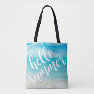 Hello Summer - All Over Print Tote Bag