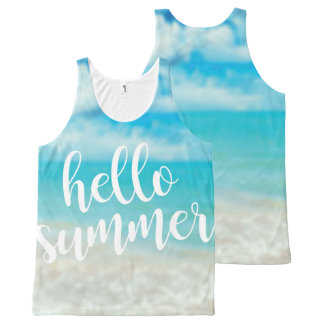 Hello Summer - All Over Unisex Vest Top
