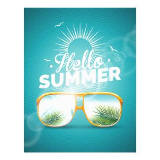 Hello Summer Design Letterhead Design
