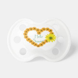 Hello Summer, Floral, Fun, Sunflower Pacifier