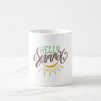 Hello Summer Hand Painted Illustration Coffee Mug