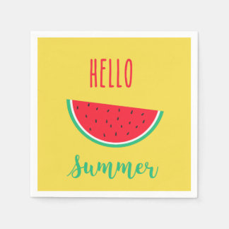 Hello Summer napkins - Watermelon