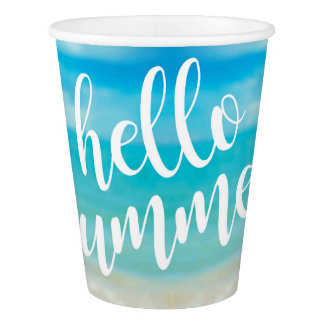 Hello Summer - Party Paper Cups