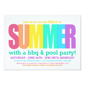Hello Summer PoolParty Card