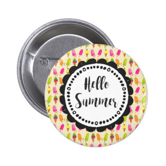 Hello Summer Popsicles and Ice Cream 2 Inch Round Button