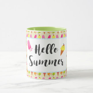 Hello Summer Popsicles and Ice Cream Mug