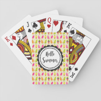 Hello Summer Popsicles and Ice Cream Playing Cards