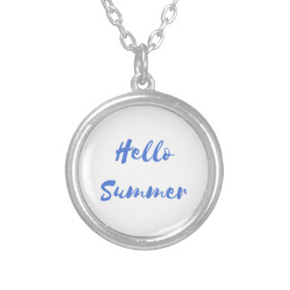 hello summer silver plated necklace