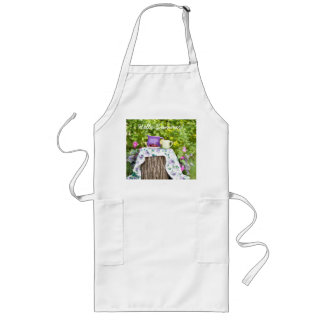 Hello Summer Tea and Plums in the Garden Long Apron