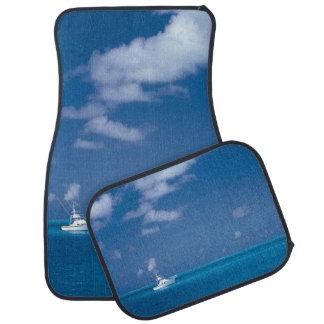 Hello Summer Turquoise Blue Sea Photo Typography Auto Mat