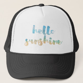 Hello Sunshine Apparel Trucker Hat