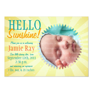 Hello Sunshine! Baby Announcement