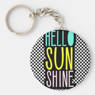 Hello SunShine Basic Round Button Keychain