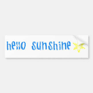 Hello Sunshine Bumper Sticker