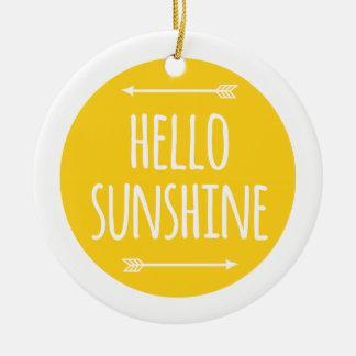 hello sunshine ceramic ornament