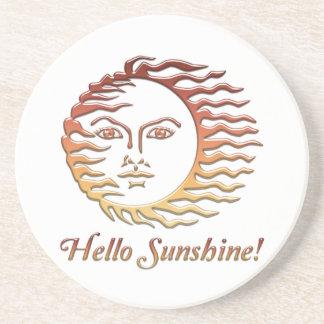 HELLO SUNSHINE Fun Sun Summer Coaster