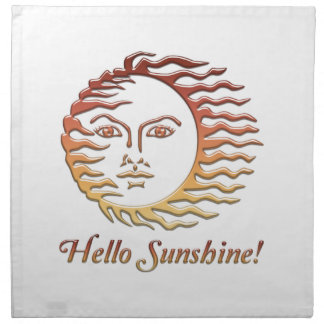 HELLO SUNSHINE Fun Sun Summer Napkin