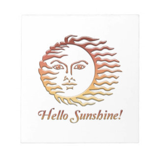 HELLO SUNSHINE Fun Sun Summer Notepad