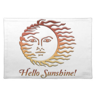 HELLO SUNSHINE Fun Sun Summer Placemat