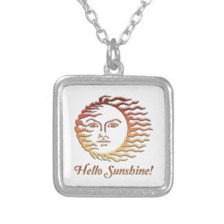 HELLO SUNSHINE Fun Sun Summer Silver Plated Necklace
