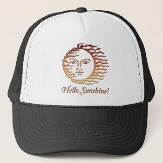 HELLO SUNSHINE Fun Sun Summer Trucker Hat