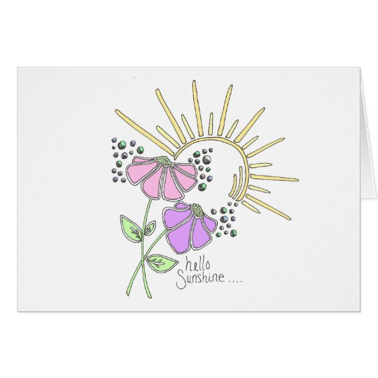 """Hello sunshine"" notecards Card"