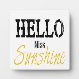 Hello Sunshine Printable Plaque