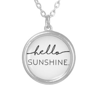 Hello Sunshine Silver Plated Necklace