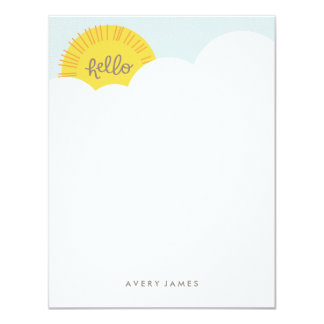 Hello Sunshine Stationery - Charcoal Card