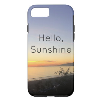 Hello Sunshine typography phone iPhone 7 Case-Mate iPhone Case