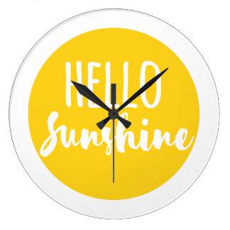 Hello Sunshine Wallclock