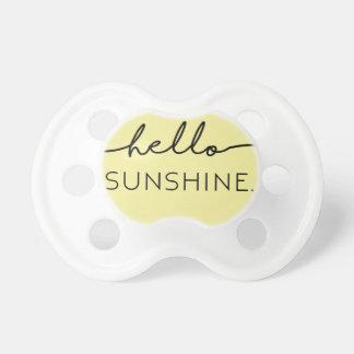 Hello Sunshine - Yellow Pacifier