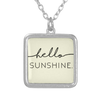 Hello Sunshine - Yellow Silver Plated Necklace