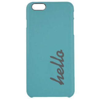 Hello Teal Phone Case