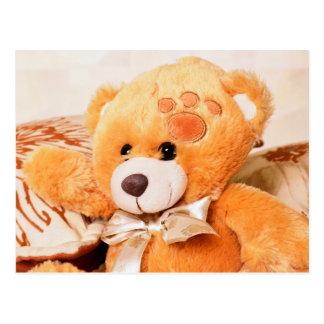 Hello teddy bear postcard